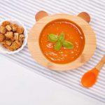 Dětská bambusová miska a lžička pro první příkrmy – Panda, 300ml – 1