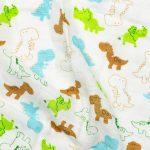 Mušelínová přikrývka pro miminka a děti – Dino, 120x120cm – 1