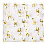 Mušelínová přikrývka pro miminka a děti – Žirafa, 120x120cm