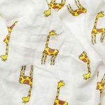 Mušelínová přikrývka pro miminka a děti – Žirafa, 120x120cm – 1