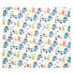 Mušelínová přikrývka pro miminka a děti – Les, 120x120cm – 2